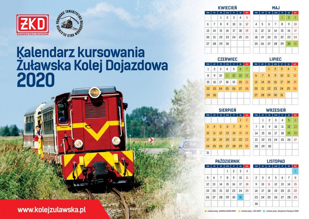 Kalendarz kursowania ŻKD 2020