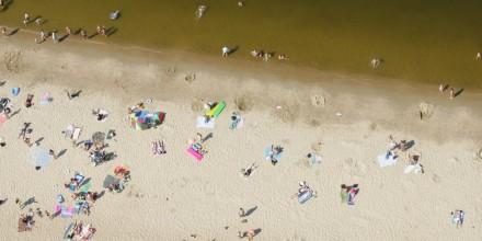 Plaża w Jantarze.
