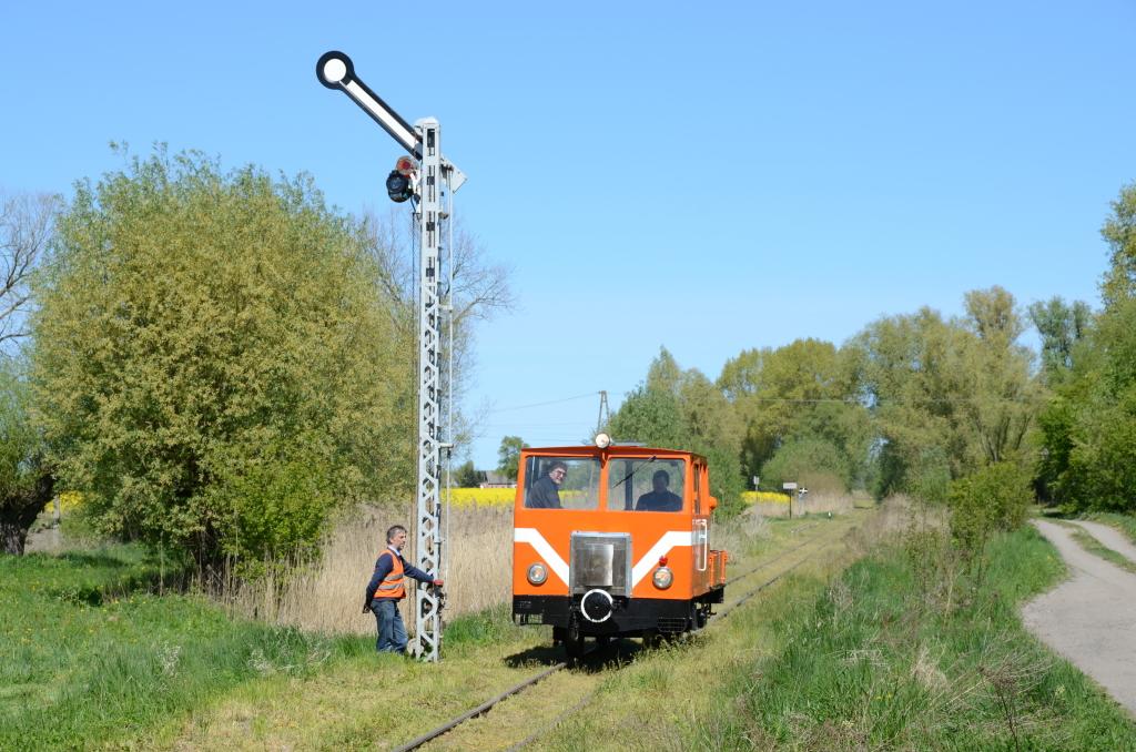 Przejazd techniczny drezyną Wmd004, fot. P. Strzyżewski